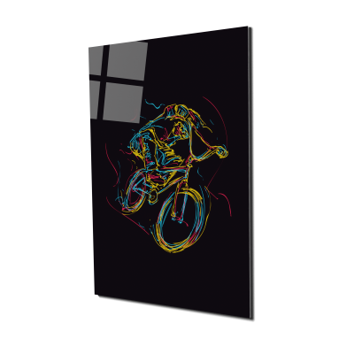 Tablou din sticla acrilica - bmx rider0