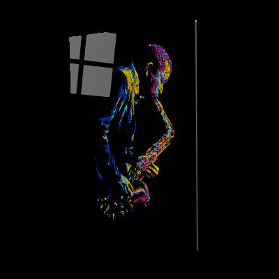 Tablou din sticla acrilica - saxophone player0