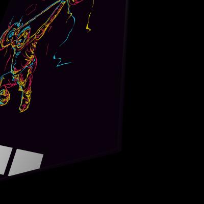 Tablou din sticla acrilica - abstract powerlifter1