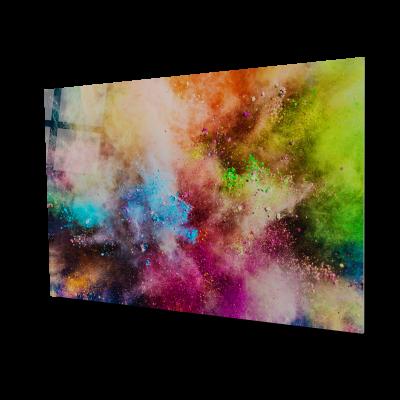 Tablou din sticla acrilica - colorful powder0