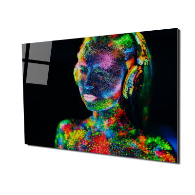 Tablou din sticla acrilica - Muzica si culoare [0]