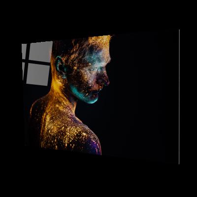 Tablou din sticla acrilica - painted man0