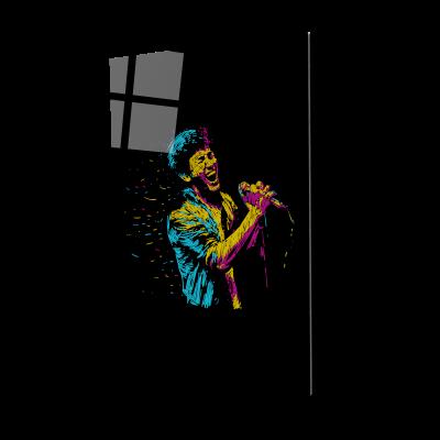 Tablou din sticla acrilica - singger man0