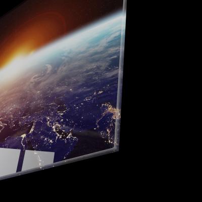 Tablou din sticla acrilica - planet earth space view1