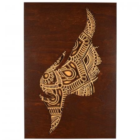 Tablou mandala din lemn - Femeia [0]