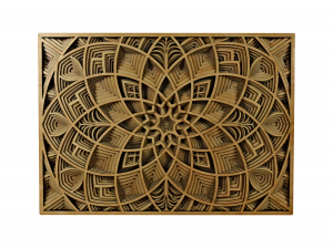Tablou mandala din lemn - Lotus [0]