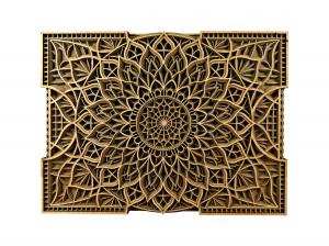 Tablou mandala din lemn - Floare infinita [0]