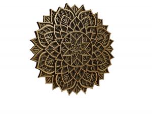 Tablou mandala din lemn - Zori de zi [1]