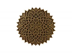 Tablou mandala din lemn - Zori de zi [0]