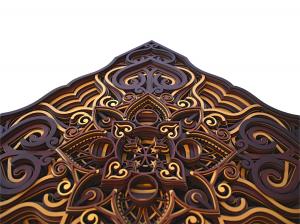Tablou mandala din lemn - Valuri [2]