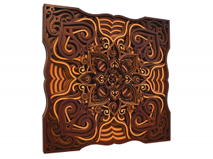 Tablou mandala din lemn - Valuri [1]