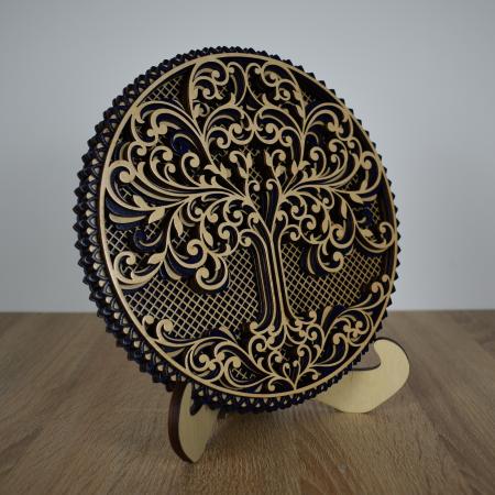 Tablou mandala din lemn - Copacul vietii [1]