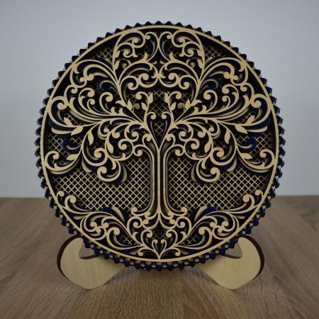 Tablou mandala din lemn - Copacul vietii [0]