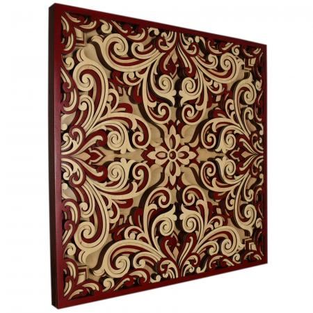 Tablou mandala din lemn - Profunzime [1]