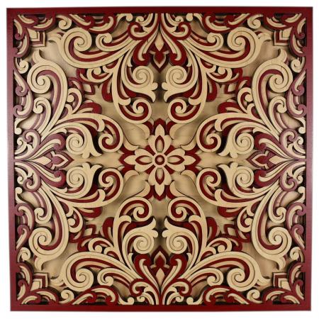 Tablou mandala din lemn - Profunzime [0]