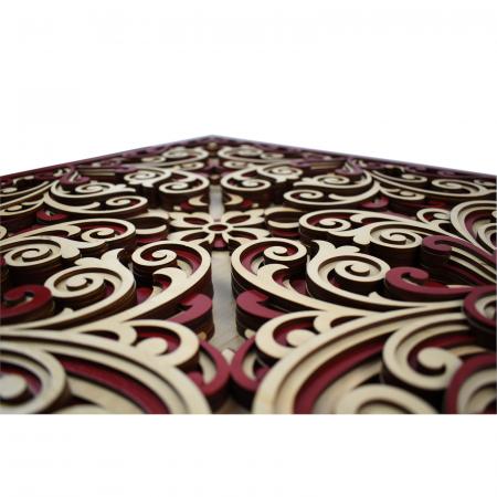 Tablou mandala din lemn - Profunzime [2]
