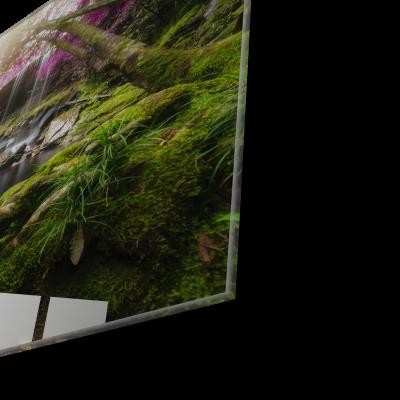 Tablou din sticla acrilica - amazing forest waterfall1