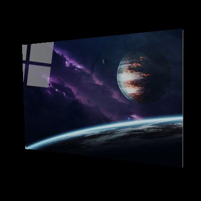 Tablou din sticla acrilica - amazing planets0