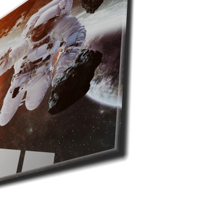 Tablou din sticla acrilica - astronaut floating in space1
