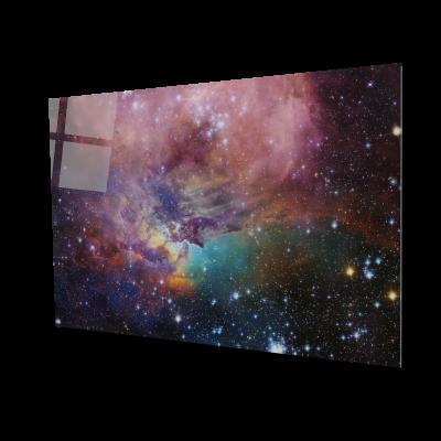Tablou din sticla acrilica - beautiful galaxy0