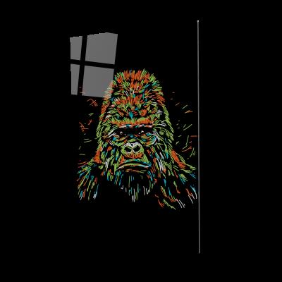 Tablou din sticla acrilica - colourful gorilla0