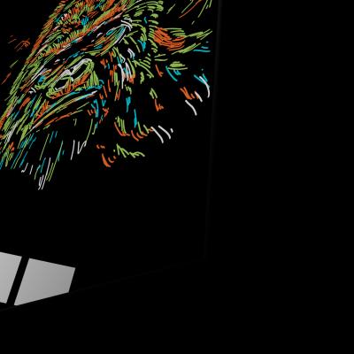 Tablou din sticla acrilica - colourful gorilla1