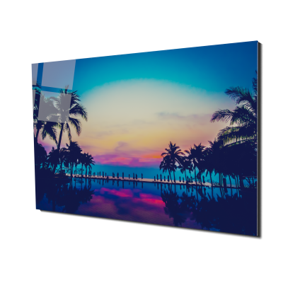 Tablou din sticla acrilica - colorful tropical beach0