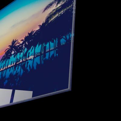Tablou din sticla acrilica - colorful tropical beach1
