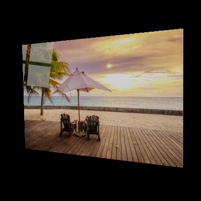 Tablou din sticla acrilica - deck tropical beach0