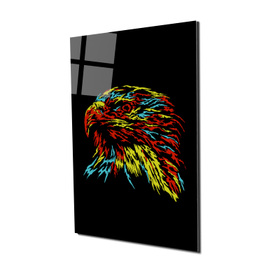 Tablou din sticla acrilica - abstract eagle0