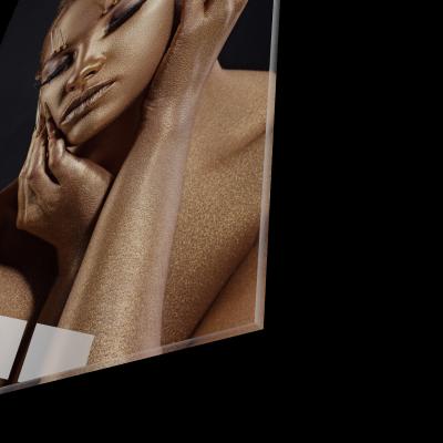 Tablou din sticla acrilica - golden makeup1
