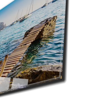Tablou din sticla acrilica - Ibiza view1