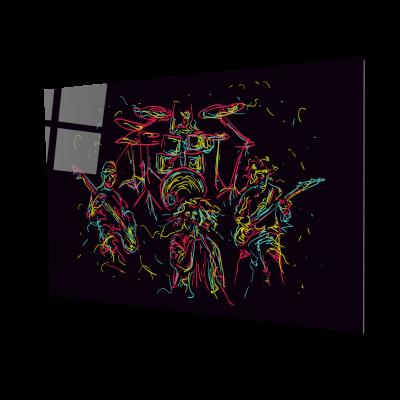 Tablou din sticla acrilica - abstract music band0