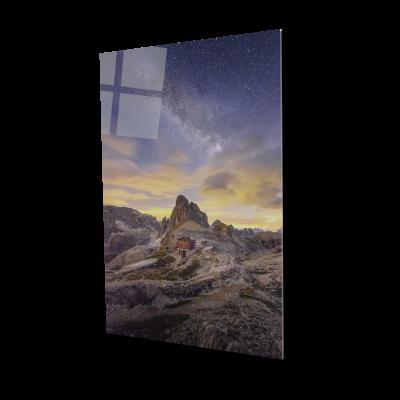Tablou din sticla acrilica - Milky Way and Italy mountain0