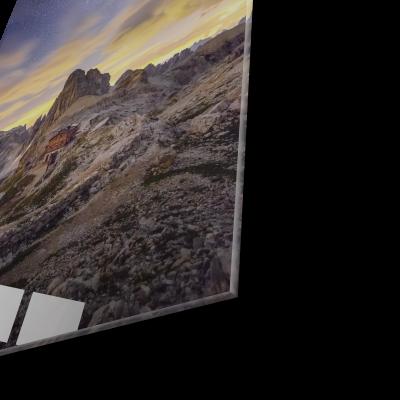 Tablou din sticla acrilica - Milky Way and Italy mountain1