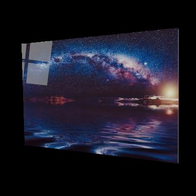 Tablou din sticla acrilica - Milky way night sky0