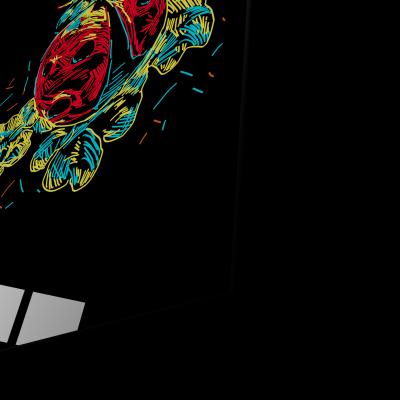 Tablou din sticla acrilica - colorful ladybug1