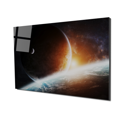 Tablou din sticla acrilica - planets0