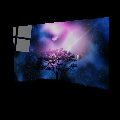Tablou din sticla acrilica - space tree0