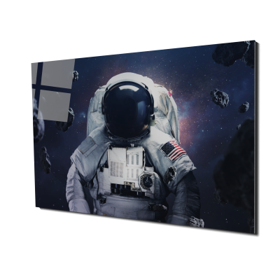 Tablou din sticla acrilica - spacewalking astronaut0