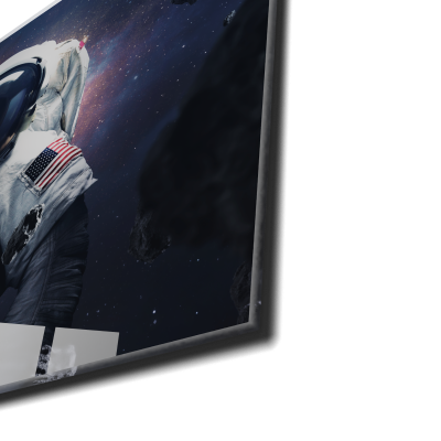 Tablou din sticla acrilica - spacewalking astronaut1