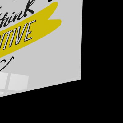 Tablou din sticla acrilica - think positive1