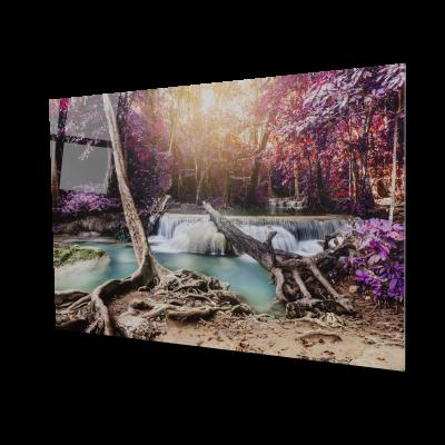 Tablou din sticla acrilica - waterfall river0