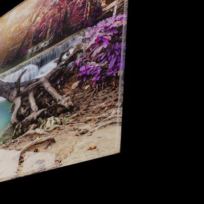 Tablou din sticla acrilica - waterfall river1