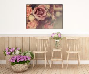 Tablou modern pe panou - colorful pink roses4