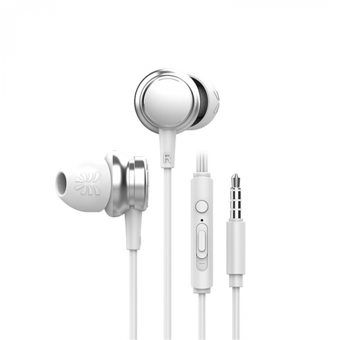 Casti cu fir HM9 Last Impact, In-Ear,Microfon incorporat,Bass profund, Jack 3.5 mm 0