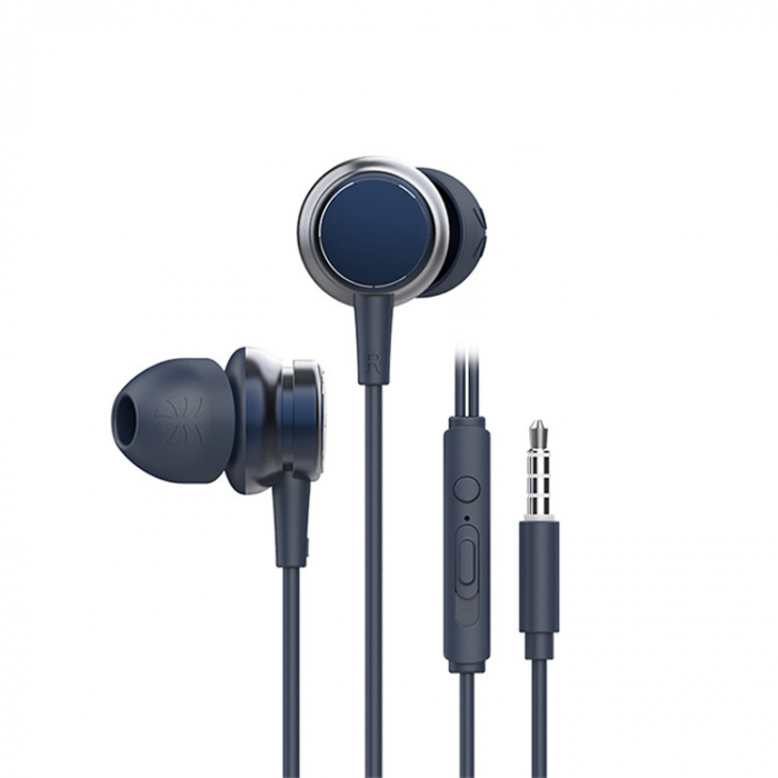 Casti cu fir HM9 Last Impact, In-Ear,Microfon incorporat,Bass profund, Jack 3.5 mm 7