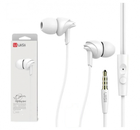 Casti cu fir C200 Last Impact, In-Ear,Microfon incorporat,Bass profund, Jack 3.5 mm, Alb0