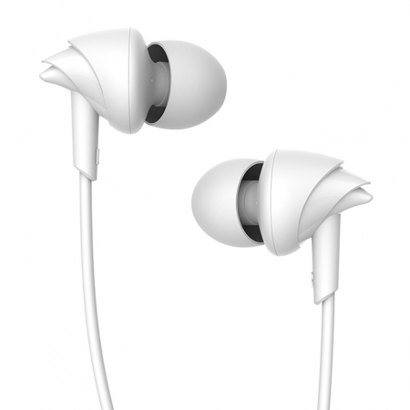 Casti cu fir C200 Last Impact, In-Ear,Microfon incorporat,Bass profund, Jack 3.5 mm, Alb1
