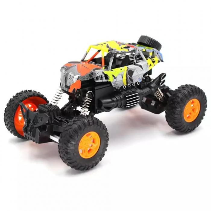 Masina OFF ROAD Cu Telecomanda 4WD 1:18, Multicolor 4